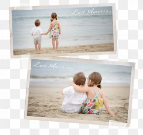 Kid Beach - Paper Vacation Picture Frames Photo Albums PNG