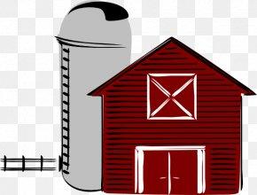 Cute Barn Cliparts - Silo Black And White Farm Barn Clip Art PNG