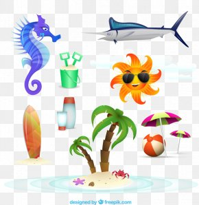 Summer Beach Icon Vector Material, - Euclidean Vector Adobe Illustrator Icon PNG