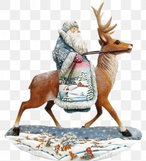 Reindeer Elderly - Reindeer Moose Santa Claus PNG
