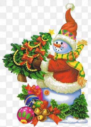 Snowman Christmas Tree - Christmas Tree Snowman Clip Art PNG