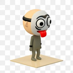 Mask Red Tongue Robot - Designer Toy Cartoon PNG