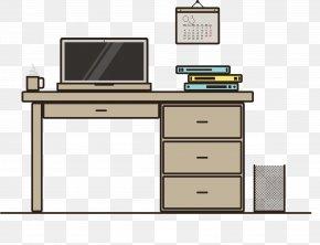 Brown Computer Desk - Desk Computer Download PNG
