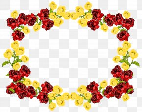 Red Flower Frame Picture - Flower Clip Art PNG