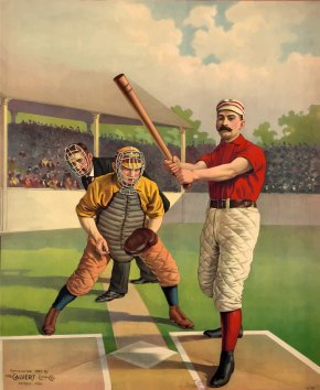 Old Baseball Cliparts - Baseball Vintage Base Ball Poster Batting Clip Art PNG