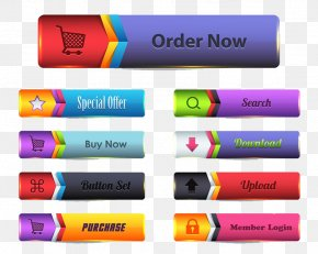 Shopping Site Navigation Bars And Buttons - Button Menu Web Page Icon PNG