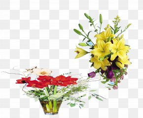Yellow Lilies Bloom - Yellow Lilium Flower PNG