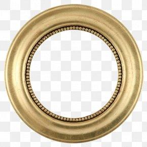Golden Round Frame Transparent Background - Picture Frame Mirror Gold Leaf Circle PNG