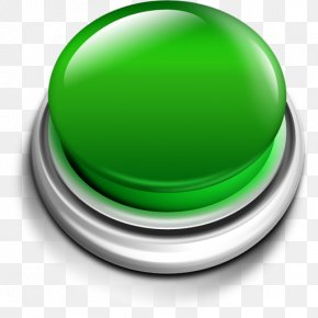 Green Push Button Icon - Push-button PNG