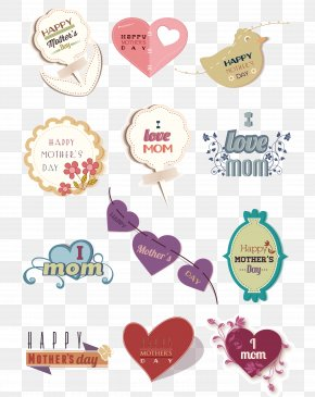 A Variety Of Mother's Day Material Vector - Mother's Day Visual Design Elements And Principles Clip Art PNG