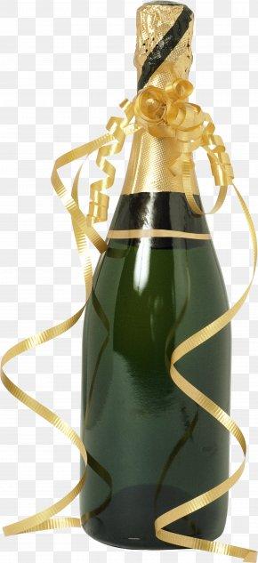 Champagne Bottle - Champagne Wine Bottle PNG