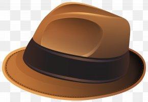 Brown Hat Transparent Clip Art Image - Hat Santa Claus Clip Art PNG