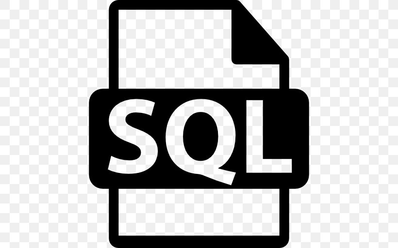 Microsoft SQL Server, PNG, 512x512px, Sql, Area, Black And White, Brand,  Computer Servers Download Free
