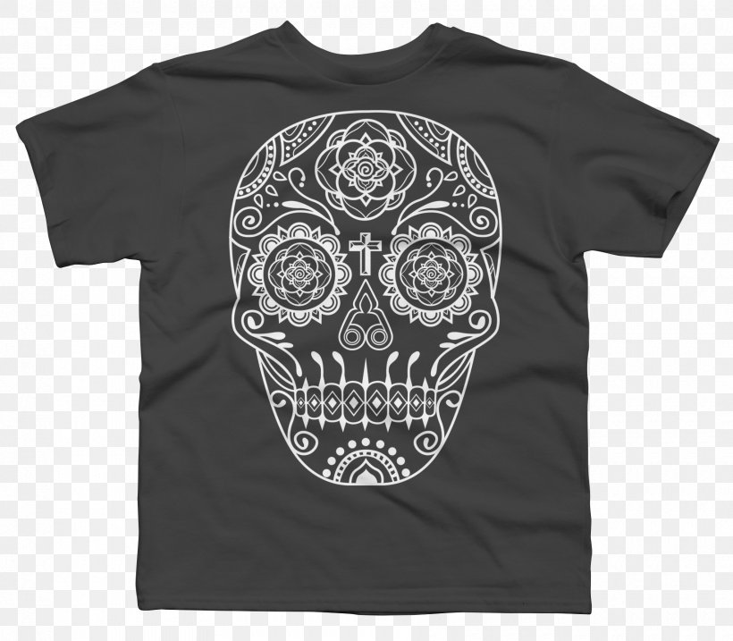 T-shirt Calavera Skull Day Of The Dead, PNG, 1800x1575px, Tshirt, Black, Bone, Brand, Calaca Download Free