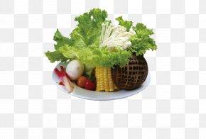 Vegetable Mushroom Platter - Leaf Vegetable Hot Pot Fruit Salad PNG