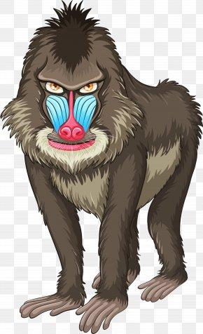 Monkey - Mandrill Ape Hamadryas Baboon Clip Art PNG