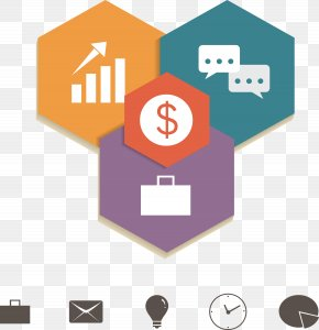Hexagon Icon Classification Map - Communication Infographic Promotion Icon PNG