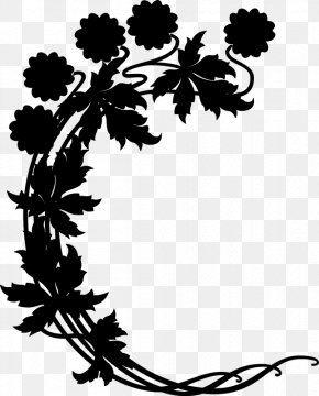 M Flower Plant Stem - Grape Clip Art Black & White PNG