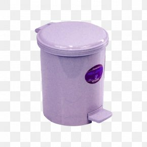 Purple Trash Can - Waste Container Plastic PNG