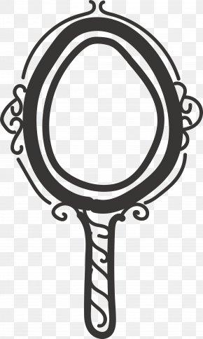Black Circle Frame - Black PNG