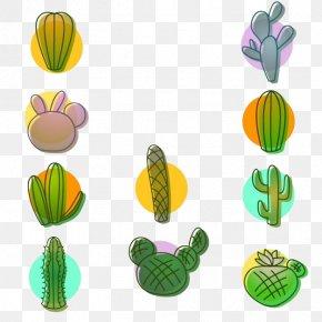 Green Cactus Plant Potted Collection - Cactaceae Euclidean Vector Plant PNG