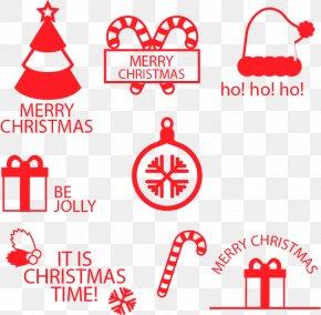 Red Christmas Tags - Christmas Tree Christmas Decoration Clip Art PNG