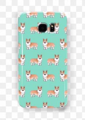 Corgi Dog - Pembroke Welsh Corgi Samsung Galaxy S5 Canvas Print Green PNG