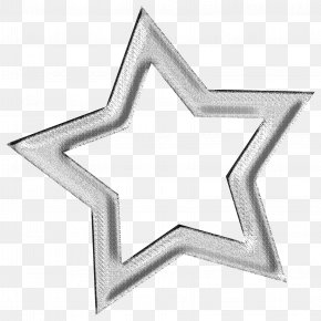 Hollow Silver Five-pointed Star - Five-pointed Star Silver PNG