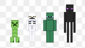 Major Craft - Minecraft Video Game Enderman Player Character PNG