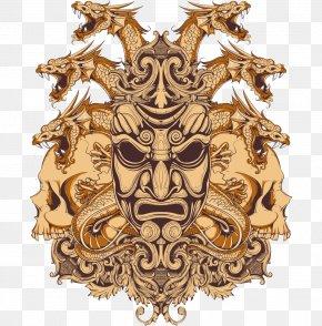 Japanese Samurai Mask Vector - Bushido: The Soul Of Japan Samurai PNG