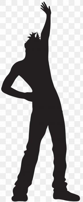 Dancing Man Silhouette Transparent Clip Art Image - Silhouette Dance Clip Art PNG