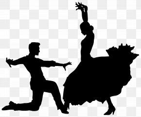 Dance Silhouette Transparent - Dance Silhouette Flamenco Clip Art PNG