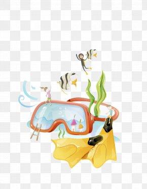 Diving Goggles - Goggles Cartoon Glasses Clip Art PNG