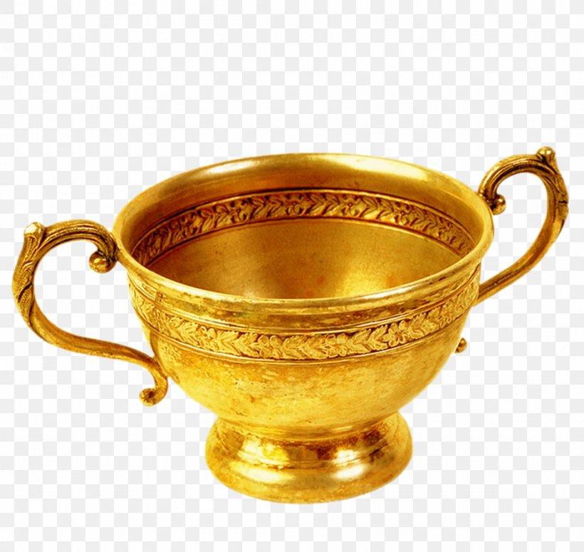 Golden Coffee Cup Clip Art