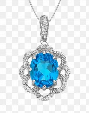 Silver Lace Sapphire Pendant - Sapphire Gemstone Pendant PNG