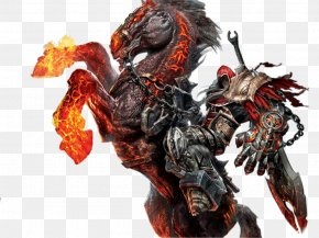 Mu Online - Darksiders Four Horsemen Of The Apocalypse On A Pale Horse Drawing PNG
