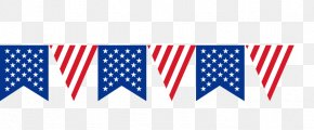 American Flag Banner Pull - United States Bunting PNG