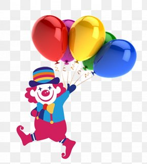 Clown Balloons - Cartoon April Fools Day Web Browser Pixel PNG