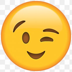 Emoji - Emoji Wink Emoticon Smiley Sticker PNG