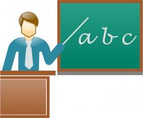 Teacher Pointing Cliparts - Teacher Blackboard Student School Clip Art PNG
