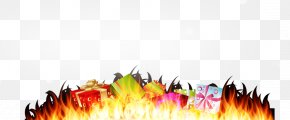 Special Holiday Gift And Creative Flame - Gift Desktop Wallpaper Flame Box PNG