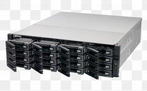 NAS & Storage Servers (HDD, SSD, Serial ATA II, Serial ATA III, 2.5/3.5', 0, 1, 5, 6, 10, J Serial Attached SCSI QNAP Systems, Inc.Others - Network Storage Systems QNAP TS-EC1680U R2 NAS Rack (3U) Ethernet LAN Black,Grey PNG