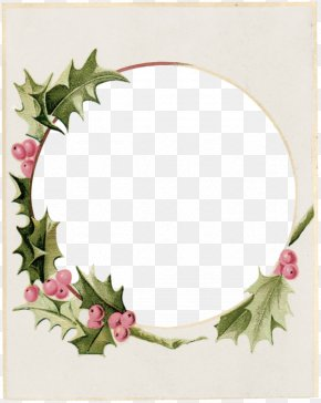 Bramble Leaf Frame Cartoon Pink Fruit - Christmas Picture Frame Wreath Clip Art PNG