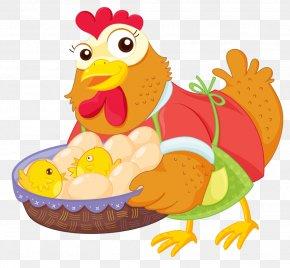 Chicken - Chicken Royalty-free The Little Red Hen Cartoon Illustration PNG
