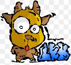 Scared Goat - Goat Dog Cartoon Clip Art PNG