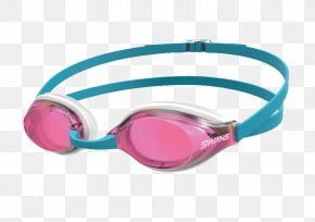 Swimming - Goggles Swimming Plavecké Brýle Swans Glasses PNG