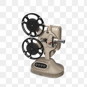 Vintage Film Projector - Photographic Film Movie Projector PNG