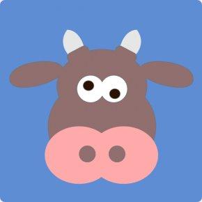 Cartoon Cow Face - Cattle Cartoon Bull Clip Art PNG