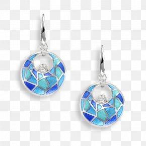 Silver Blue Sapphire Earrings - Earring Turquoise Jewellery Silver Blue PNG