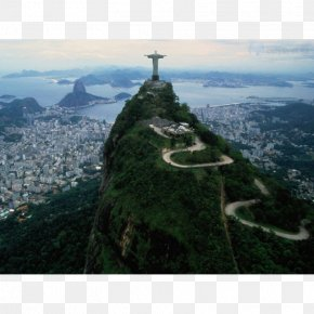 Christ The Redeemer Corcovado Sugarloaf Mountain Carnival In Rio De Janeiro Tourist Attraction PNG